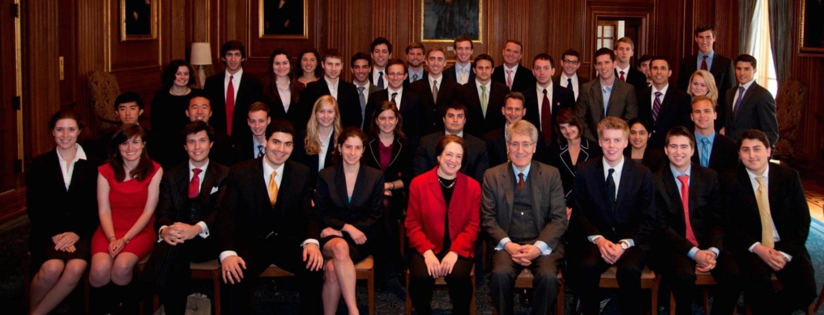 Undergraduate Fellows with Justice Kagan and Professor George