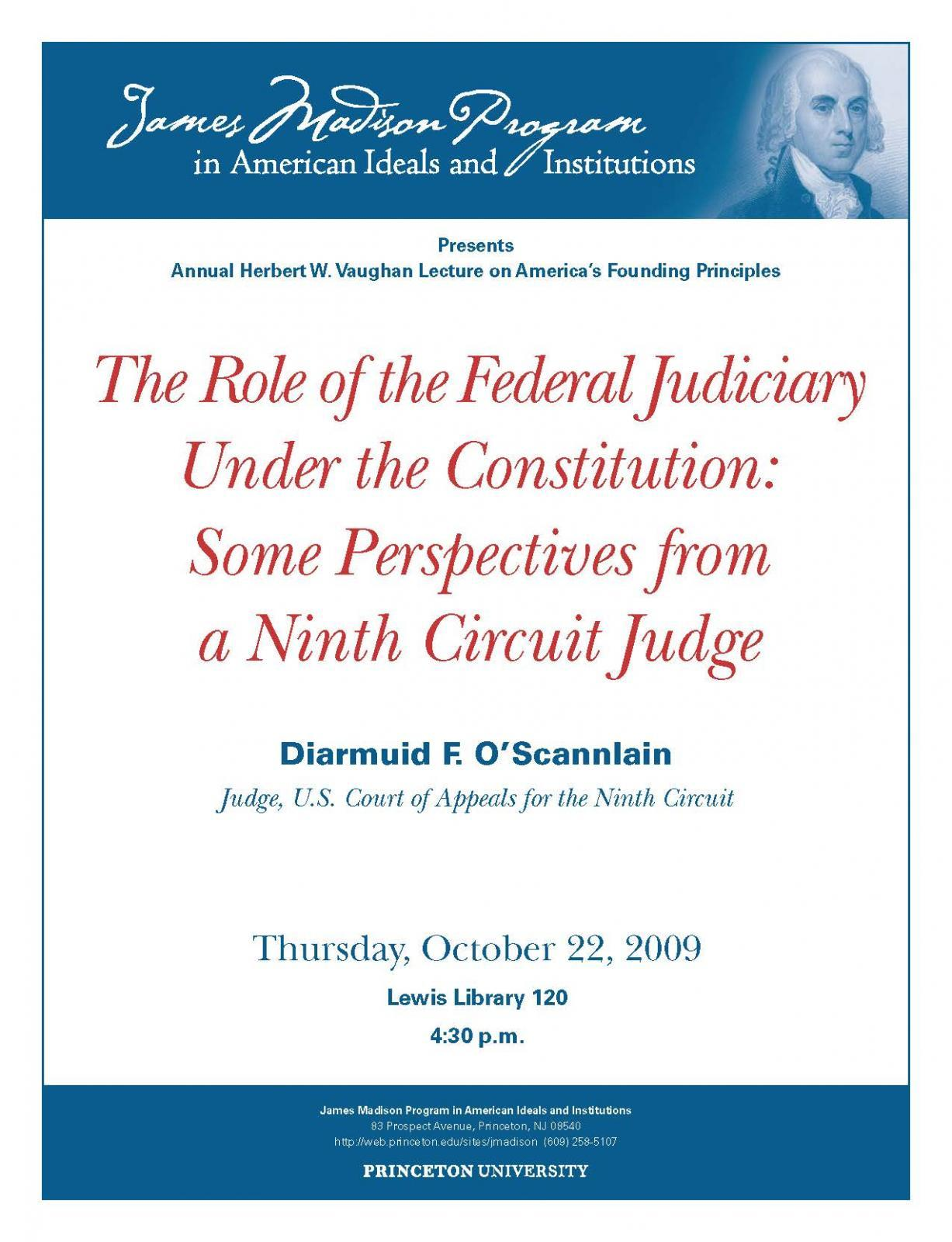 Role of the Federal Judiciary Under the Constitution: Some