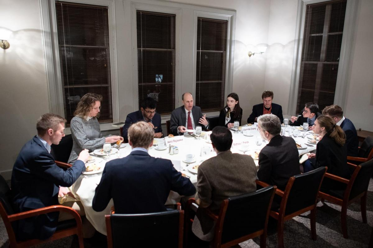 Praxis lab on Think Tanks - dinner with Ed Whelan