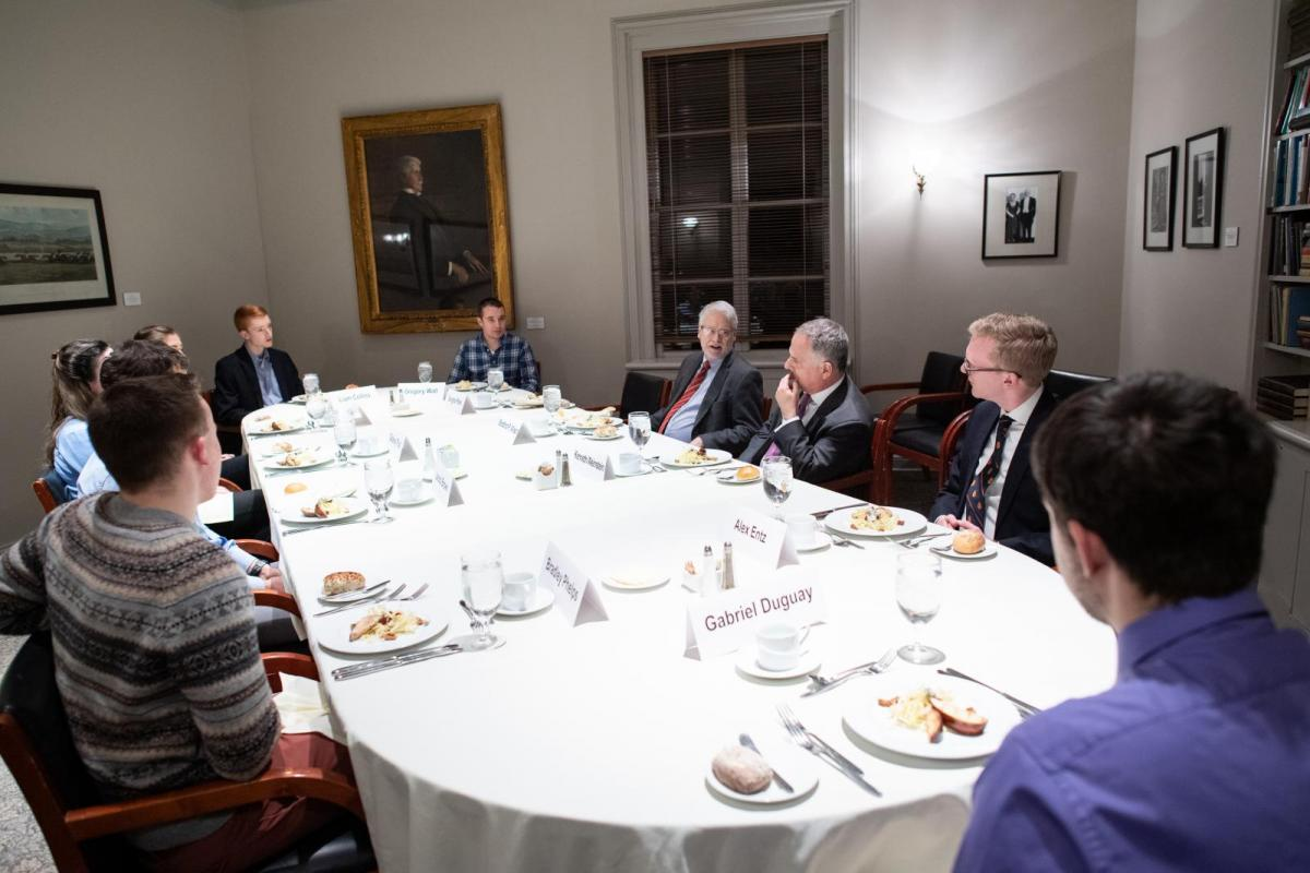 Praxis lab on Think Tanks - dinner with Ken Weinstein