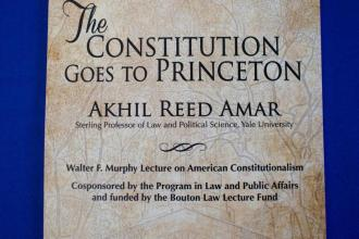 Akhil Amar lecturing on Constitution at Princeton