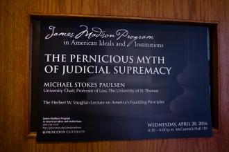 Michael Paulsen on Judicial Supremacy