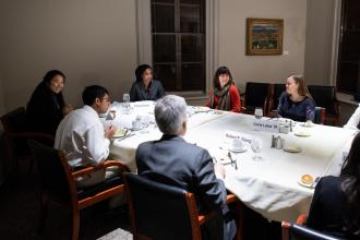 Praxis lab on Think Tanks - dinner with Carrie Lukas