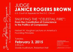 Judge Brown event poster