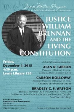 Justice Brennan event poster