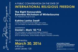 Religious Freedom event poster