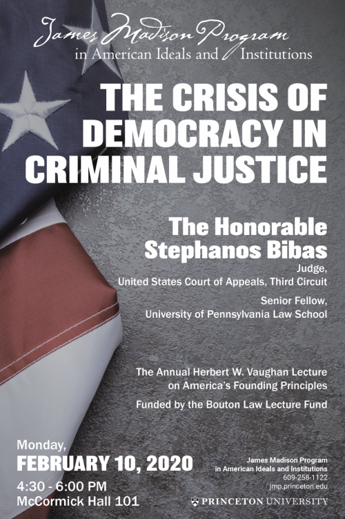 Bibas Event Poster - The Crisis of Democracy in Criminal Justice
