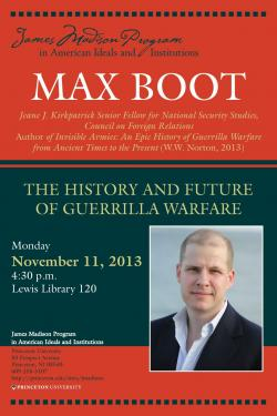 Max Boot event poster