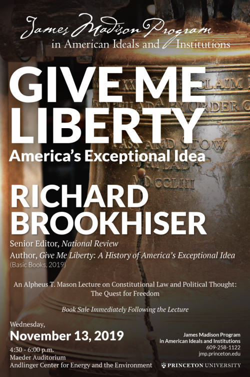 poster for Brookhiser lecture