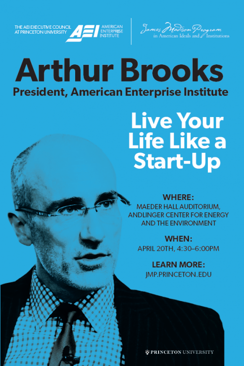 Arthur Brooks event poster