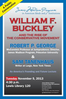 Tanenhaus Buckley event poster