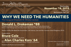 Event poster - Why We Need the Humanities
