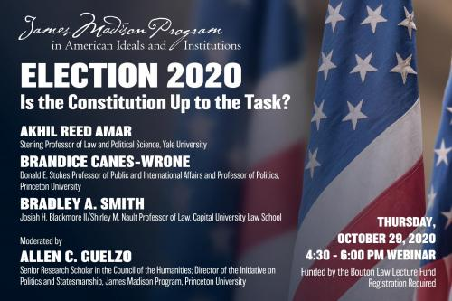 Poster for Election 2020 event