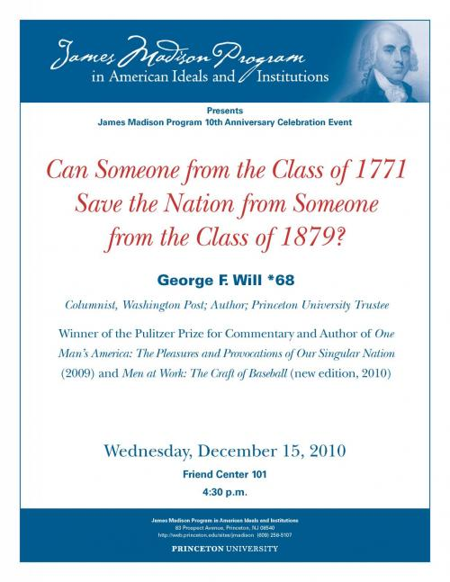 George Will lecture poster