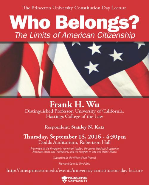 FRANK WU CONSTITUTION DAY POSTER