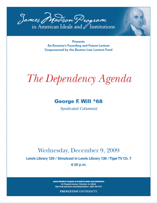 George Will event flyer