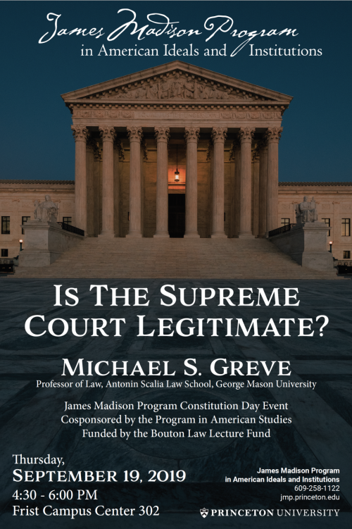"Poster for the Event ""Is the Supreme Court Legitimate"""