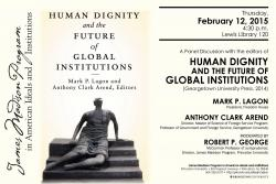 Human Dignity event poster