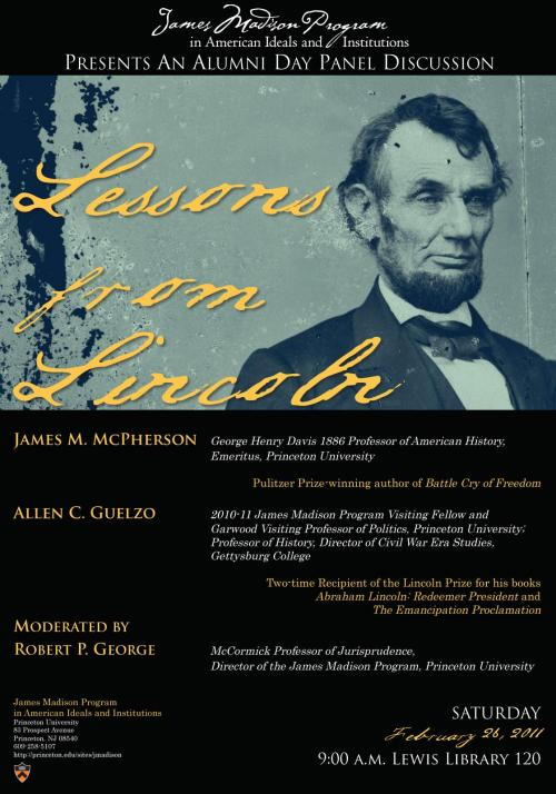 Lincoln panel poster