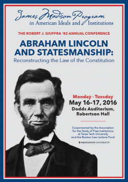 Lincoln Conference Brochure Cover