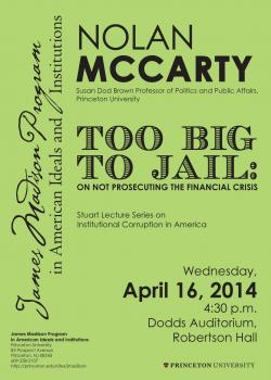 Nolan McCarty event poster