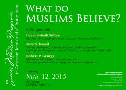 Muslims event poster