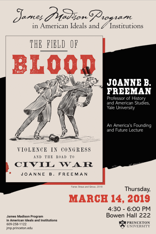 Joanne Freeman lecture poster