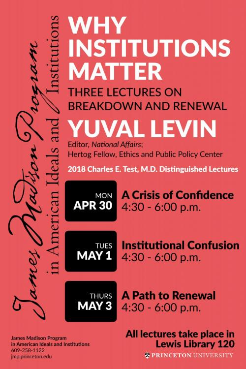 Yuval Levin lectures - poster image