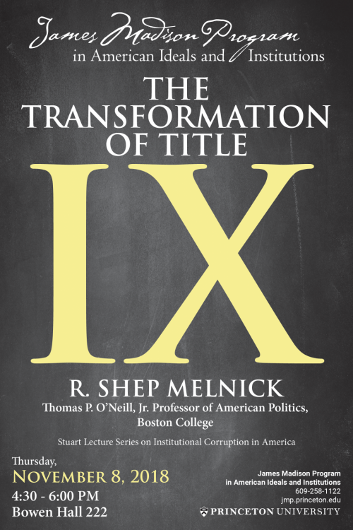 Melnick lecture poster