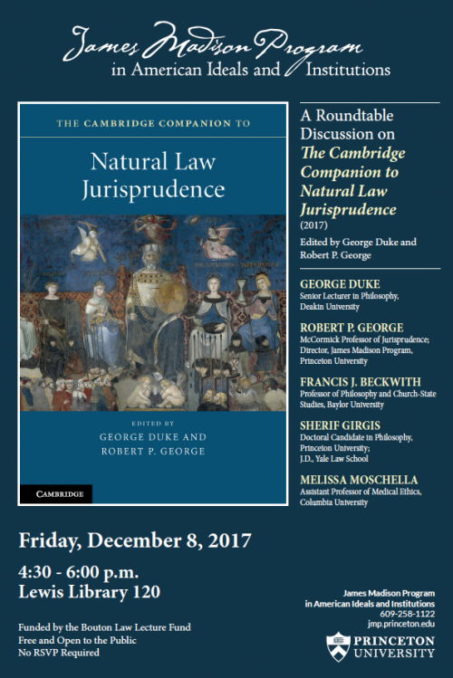Poster - Natural Law Jurisprudence event
