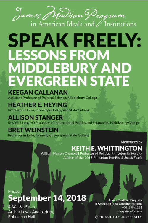 Speak Freely event poster