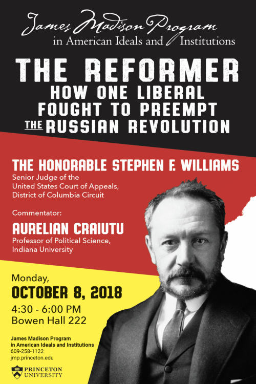 The Reformer book event poster