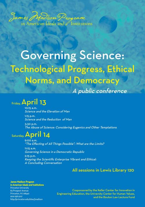 Governing Science event poster