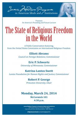 Religious Freedom event poster 2014
