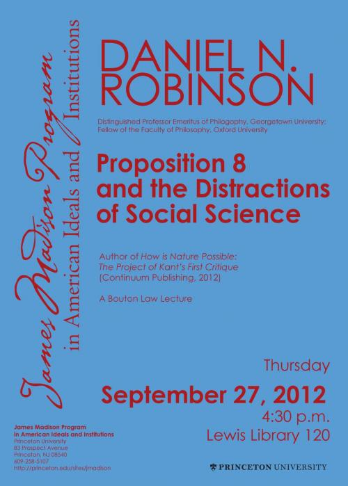 Robinson event poster