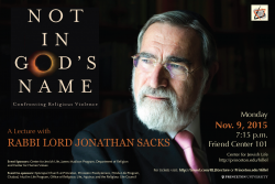 Rabbi Sacks poster