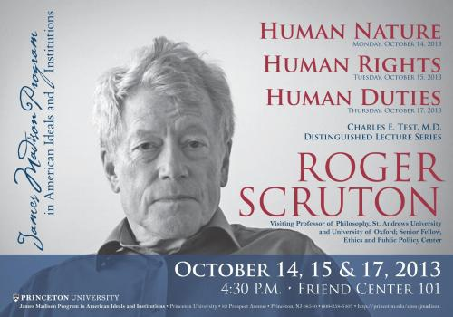 Scruton lecture series poster