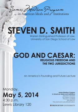 Steven D. Smith event poster