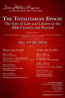 Totalitarian Epoch Conference poster