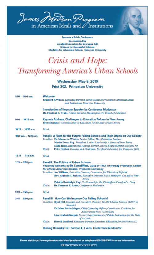 Crisis and Hope event flyer