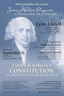 Constitution Day lecture poster