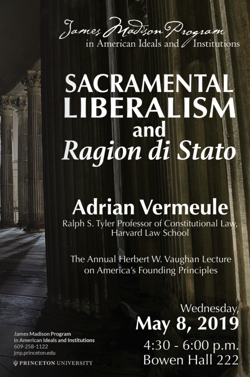 Vermeule lecture poster