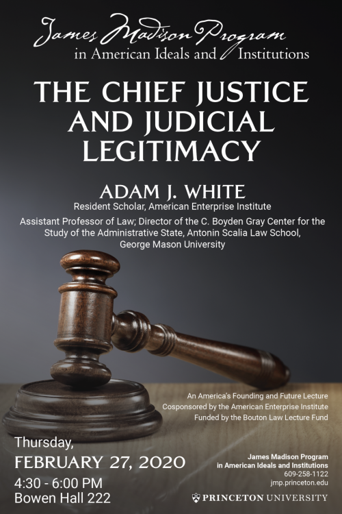 Poster for Adam J. White Event