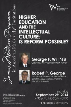 Higher Education Reform event poster