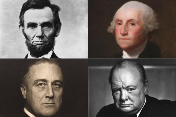 Lincoln, Washington, FDR, and Churchill