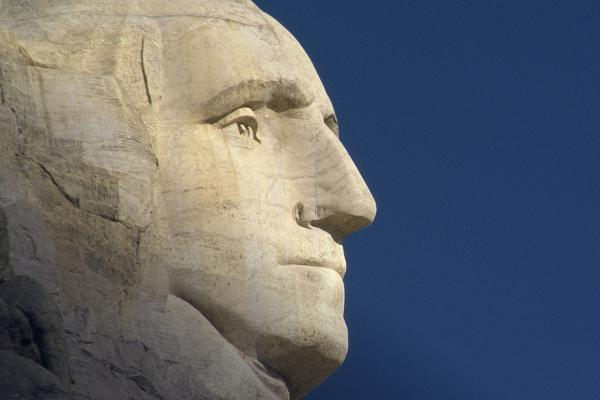 Photo of George Washington at Mount Rushmore