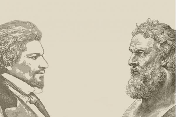Sketch of Frederick Douglass and Aristotle