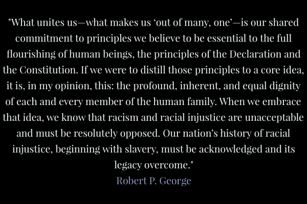 Statement from Robert P. George
